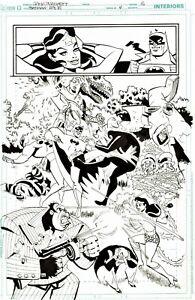 RICK BURCHETT 2011 BATMAN, WONDER WOMAN, RIDDLER, PENGUIN, CLAYFACE SPLASH ART!