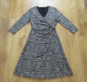 MARKS&SPENCER COLLECTION Kleid Tunika Blogger Wickeloptik Boho Gr.40 (UK12) TOP