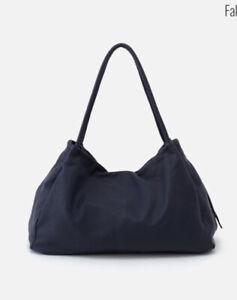 hobo nwt prima navy shoulder bag W/outside pockets