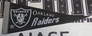 "Original 1970-1981 Vintage Oakland Raiders Football 12"" Pennant Flag NFL Shield"