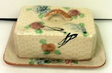 Vintage Made in Japan Decorative Covered Butter Dish