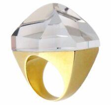 H.Stern by Diane von Furstenberg 18K Gold & Quartz DVF POWER Ring  Sz:6.5