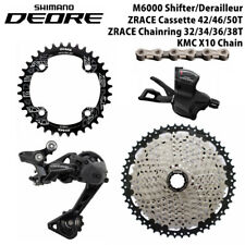 Shimano Deore M6000 Groupset 10 speed group set big casstte 46T/50T/52T Zrace