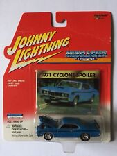 Johnny Lightning Muscle Cars USA 1971 71 Cyclone Spoiler Blue Diecast 1/64 Scale