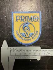 NOS Vintage PRIMO HAWAIIAN BEER PATCH Hawaii Original Beer