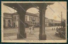 Biella città Stazione cartolina QQ6296