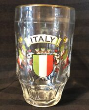 Italy italia 0.6l glass mug With Gold Rim