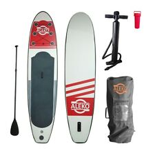 """ALEKO Inflatable Stand Up Paddle 4""""x30""""x126"""" Board 1 Fin with Carry Bag"""