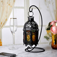 Retro Morrocan Lantern Colored Glass Wall Hanging Tea Light Candleholder