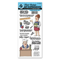 Art Impressions Work /& Play Stamp Set-Housework Clear