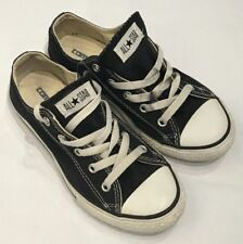 Converse All Stars Youth Size 2 Low Top Shoes Sneakers Black