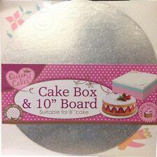 "CAKE BOARD 10"" & BOX SET FOR 8"" CAKE BAKING BRILLIANCE"