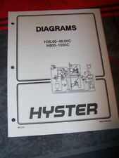 0N Manual HYSTER Electrical Diagrams H36.00-48.00C H800-1050C
