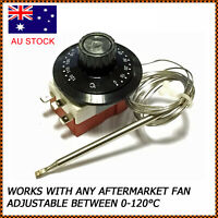 Universal Capillary Thermostat Cooling Radiator Fan Control Switch TS-120SR AU