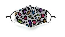 Adults colourful leopard Face Mask with Pocket Filter and Adjustable strap