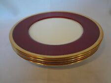 Coalport China - Athlone Marone - Set of 4 Dinner Plates - Ruby