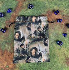 Lord of The Rings The Hobbit Return of The King dice bag, card bag, makeup bag