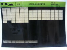 Kawasaki KZ550 LTD 1980 - 1981 Part Microfiche NOS k333