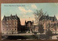 Old Postcard Tacoma High School, Tacoma Washington Postmarked 1912