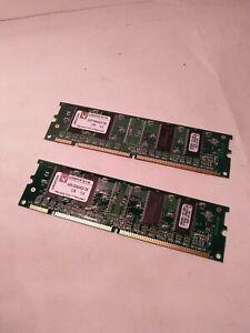 256MB 2x128mb Sdram PC133 PC-133 Kingston KVR133X64C2/256 Memory S90