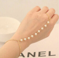 New Fashion Bracelet Bangle Slave Chain Finger Ring Harness Gold Bracelet