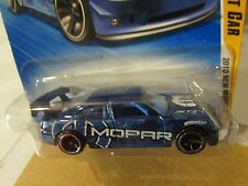 Hot Wheels Dodge Charger Drift car 2010 New Models Blue (Clear plastic dented)