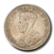 Canada George V 25 Cents 1917  F+ KM24