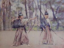 Japan ARCHERS Original 1901 Colour Print by Mortimer Menpes