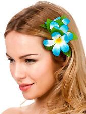 Nouveau bleu ciel hibiscus à cheveux fleur robe fantaisie hawaïen Luau Fête Nuptiale