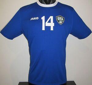Uzbekistan National Team SHOMURODOV #14 Jako Away Football Shirt Jersey Soccer L