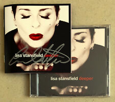 LISA STANSFIELD * DEEPER * US 13 TRK CD w/ SIGNED BOOKLET * BN! * BILLIONAIRE