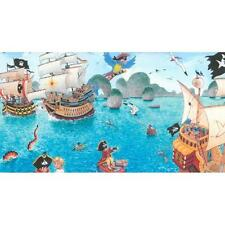 NEW RASCH CHILDRENS PIRATE PATTERN PIRATE SHIP PARROT WALLPAPER BORDER 289800