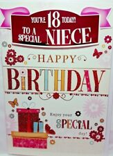18th NIECE BIRTHDAY CARD AGE 18 MODERN DESIGN QUALITY CARD LOVELY VERSE