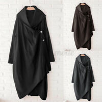 Women Long Sleeve Button Down Trench Coat Ladies Casual Loose Cardigan Oversized