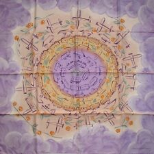 LOUIS VUITTON Twill 95 carre tusch foulard scarf NAIVE LOCOMOTION