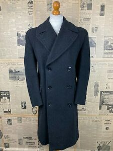 Vintage 1940's Burtons double breasted grey overcoat size 44