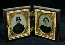 RARE DAGUERROTYPE PHOTOS IN BOOK-STYLE FRAME PRE-CIVIL WAR CIRCA 1857-1861