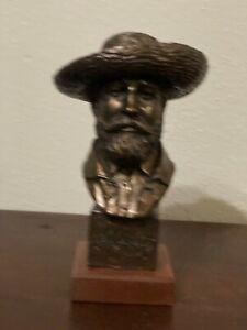 1999 Alva S Eylanbekov Claude Monet Plaster Bust Sculpture 9' Wood Base USA