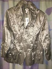 Chico's 3 Sophisticated Shine Charming Jacket Silver Safari Shimmer 16 NWT