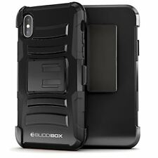 for Apple iPhone X Case BUDDIBOX Heavy Duty Durable Shockproof Belt Clip Cover