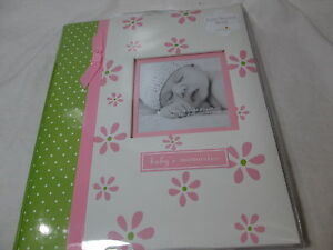 New L'il Peach Baby's  Memory Record Book First Five Years - Pink & Green -Girl