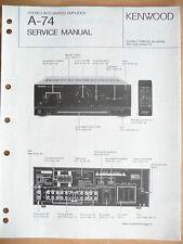 Service MANUAL KENWOOD a-74 amplifier, ORIGINALE