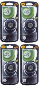 (Pack of 4)  Airwick Car Vent Clip Air Freshner New Car