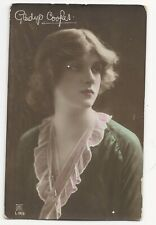 Early 1900s Real Photo Postcard Gladys Cooper Theatre Film Star Posted RPPC #1