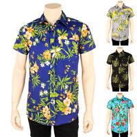 Mens New Hawaiian Shirt Tropical Print Button Down Pot Weed Leaf S M L XL 2X