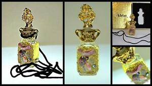 vintage Adrian Designs limited edition perfume in bottle necklace no alcohol oil
