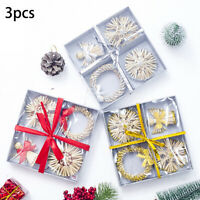 3boxes/Set Crafted Christmas Tree Hanging Ornament Decorations Xmas Home Baubles