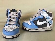 EUC NIKE HIGH DUNK INFANT TODDLER SZ 5C WHITE CAROLINA BLUE PHASE MMX