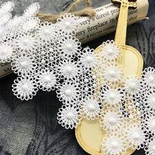 1 yd Vintage Lace Trim Crochet Ivory White Cream Wedding Sewing Bridal Ribbon
