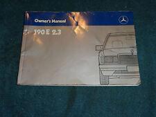 1986 MERCEDES 190 E 2.3 OWNER'S MANUAL  / ORIGINAL GUIDE BOOK